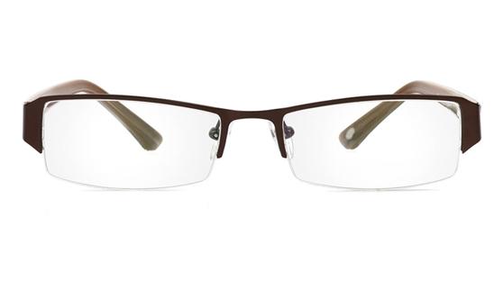 Vista First 1066 Stainless Steel/ZYL Half Rim Mens Optical Glasses