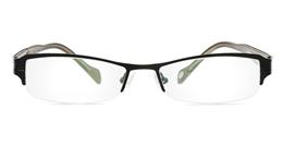 Vista First 1054 Stainless Steel/ZYL Half Rim Mens Optical Glasses