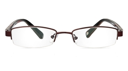 Vista First 1049 Stainless Steel/ZYL Mens Womens Half Rim Optical Glasses for Classic,Party,Sport,Nose Pads