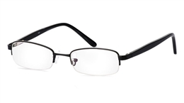Vista First 1043 Stainless Steel/ZYL Mens Womens Half Rim Optical Glasses for Fashion,Nose Pads Bifocals