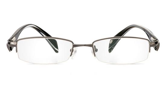 Vista First 1075 Stainless Steel/ZYL Half Rim Mens Optical Glasses