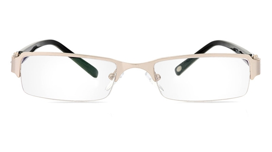 Vista First 1060 Stainless Steel/ZYL Half Rim Womens Optical Glasses