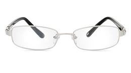 Vista First 1073 Stainless Steel/ZYL Full Rim Womens Optical Glasses for Fashion,Nose Pads Bifocals