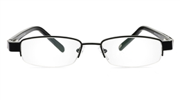 Vista First 1069 Stainless Steel/ZYL Half Rim Mens Optical Glasses for Classic,Party,Sport,Nose Pads Bifocals