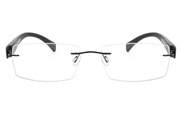 Vista First 5020 Stainless Steel Mens Womens None Optical Glasses for Fashion,Classic,Party,Nose Pads Bifocals