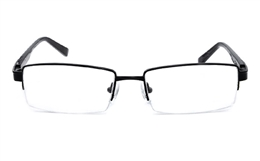 Vista First 1101 Stainless Steel Mens Womens Half Rim Optical Glasses for Classic,Party,Sport,Nose Pads Bifocals