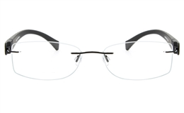 Vista First 5021 Stainless Steel Mens Womens None Optical Glasses for Fashion,Classic,Party,Nose Pads Bifocals