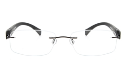 Vista First 5018 Rimless Stainless Steel Man   Woman Optical Glasses for Fashion,Classic,Party,Nose Pads Bifocals