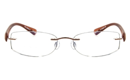 Vista First 5016 Stainless Steel Mens Womens None Optical Glasses for Fashion,Classic,Nose Pads Bifocals