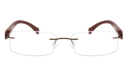 Vista First 5019 Stainless Steel Mens Womens None Optical Glasses for Fashion,Classic,Party,Nose Pads Bifocals