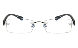 Vista First 5009 Stainless Steel Mens Womens None Optical Glasses for Fashion,Classic,Nose Pads Bifocals