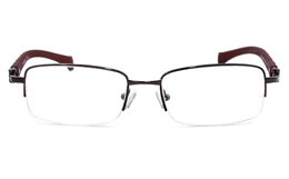 Vista First 1603 Half Rim Mens Optical Glasses for Classic,Party,Nose Pads Bifocals