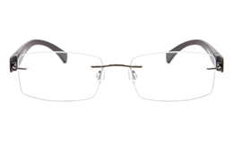 Vista First 5022 Stainless Steel Mens Womens Rimless Optical Glasses for Fashion,Classic,Party,Nose Pads Bifocals