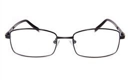 Poesia eso6609 Stainless Steel Mens Womens Full Rim Optical Glasses for Classic,Party,Sport,Nose Pads Bifocals