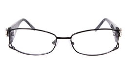 Vista First 8802 Stainless Steel/ZYL Full Rim Womens Optical Glasses for Fashion,Party,Sport,Nose Pads Bifocals