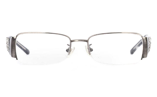 CR3457 Stainless Steel/ZYL Half Rim Womens Optical Glasses
