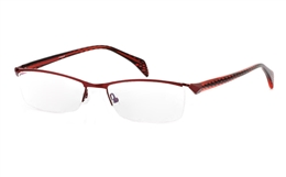 OD-043 Stainless Steel/ZYL Mens&Womens Half Rim Optical Glasses