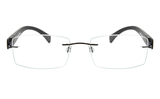 Vista First 5022 Stainless Steel Mens&Womens Rimless Optical Glasses