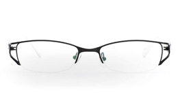 OD-050 Stainless Steel/ZYL Half Rim Womens Optical Glasses for Fashion,Classic,Party,Nose Pads Bifocals