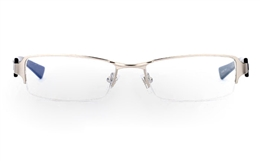 E1029 Stainless Steel Mens Womens Half Rim Optical Glasses for Fashion,Classic,Party,Sport,Nose Pads