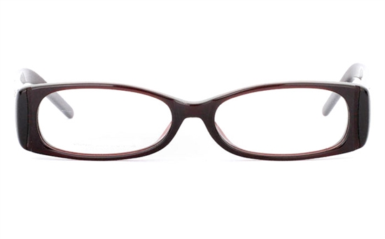 CR3499 Stainless Steel/ZYL Full Rim Womens Optical Glasses