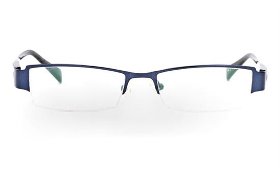 VN-006 Stainless Steel/ZYL Mens&Womens Half Rim Optical Glasses