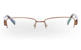 9857 Monel Mens Womens Half Rim Optical Glasses for Fashion,Classic,Party,Sport,Nose Pads Bifocals