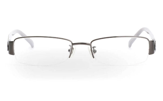 CR3459 Stainless Steel/ZYL Half Rim Womens Optical Glasses