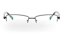 VN-007 Stainless Steel/ZYL Half Rim Mens Optical Glasses for Fashion,Party,Sport,Nose Pads Bifocals