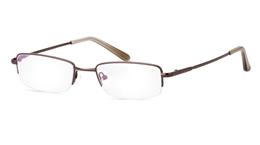 Vista First 2017 Titanium Memory Mens Womens Half Rim Optical Glasses for Fashion,Classic,Party,Nose Pads Bifocals