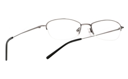 Vista First 1017 Stainless Steel/ZYL Mens Womens Half Rim Optical Glasses for Fashion,Classic,Party,Sport,Nose Pads Bifocals