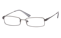 Poesia 1020 Stainless Steel/ZYL Full Rim Mens Optical Glasses for Fashion,Classic,Party,Sport,Nose Pads
