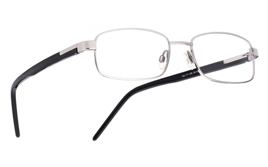 Vista First 1011 Stainless Steel/ZYL Full Rim Mens Optical Glasses