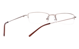 Vista First 1018 Stainless Steel/ZYL Half Rim Mens Optical Glasses for Fashion,Classic,Party,Sport,Nose Pads