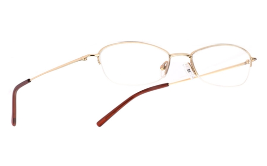 Vista First 1017 Stainless Steel/ZYL Mens&Womens Half Rim Optical Glasses