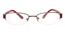 Vista First 1804 Stainless Steel/ZYL Half Rim Womens Optical Glasses for Fashion,Nose Pads Bifocals