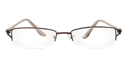 Vista First 1807 Stainless Steel/ZYL Mens Womens Semi-rimless Optical Glasses for Fashion,Nose Pads