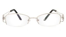 Vista First 1090 Stainless Steel Half Rim Womens Optical Glasses for Fashion,Nose Pads Bifocals