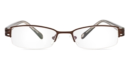 Vista First 1085 Stainless Steel/ZYL Mens Womens Half Rim Optical Glasses for Classic,Party,Sport,Nose Pads Bifocals