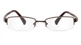 Vista First 1083 Polycarbonate(PC) Mens Womens Half Rim Optical Glasses for Fashion,Nose Pads