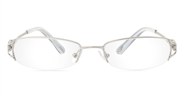 Vista First 1801 Stainless Steel Semi-rimless Womens Optical Glasses for Fashion,Classic,Party,Nose Pads
