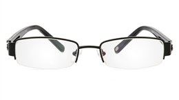 Vista First 1077 Stainless Steel Mens Womens Semi-rimless Optical Glasses for Fashion,Classic,Party,Nose Pads