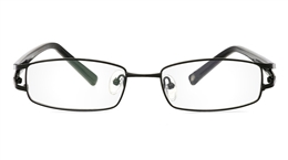 Vista First 1093 Stainless Steel/ZYL Mens Womens Full Rim Optical Glasses for Fashion,Nose Pads Bifocals