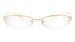 Vista First 1079 Titanium Memory Mens Womens Half Rim Optical Glasses for Fashion,Nose Pads