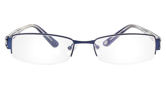 Vista First 1074 Stainless Steel/ZYL Half Rim Mens Optical Glasses