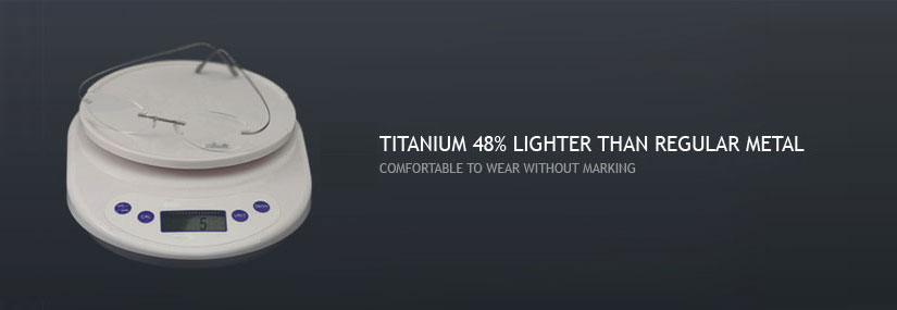 Lightweight of  Titanium Glasses